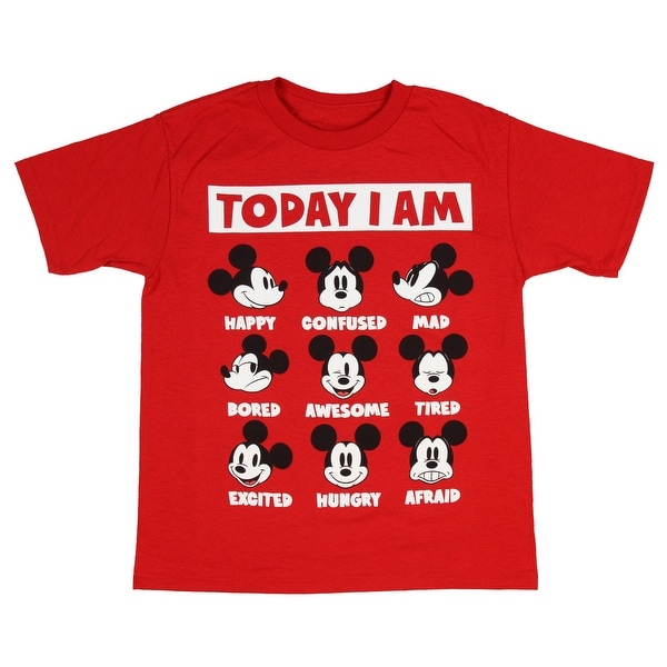 3647848381 Shop Disney Mickey Mouse Shirt Boys Expressions Classic Cartoon Character  Kids Tee - On Sale - Free Shipping On Orders Over $45 - Overstock - 25365168