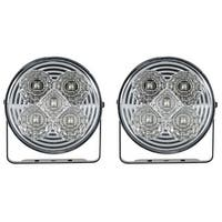 Pilot Automotive 4-inch Round 4-LED DRL With Accent Light (Set of 2)