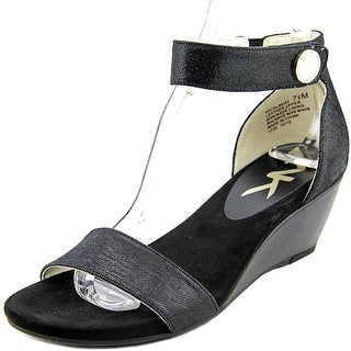 Anne Klein Calbert Women  Open Toe Leather  Wedge Sandal