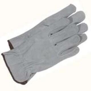 Boss 4065M Split Leather Gloves, Medium, Gray