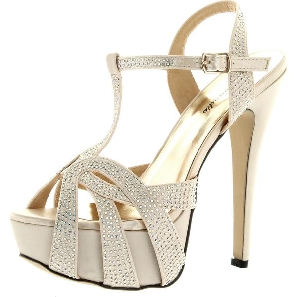 Eye Candie Womens Celine-86 High Heel Dress Pumps