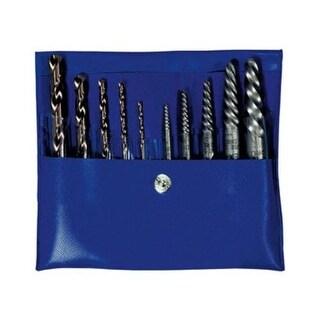 Hanson 11117 Screw Extractor & Cobalt Drill Bit Combo Pack, 10 Piece