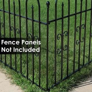Sunnydaze 3-Foot Iron Fence Post for Border Fence Panels