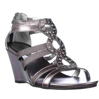 SC35 Cassade Strappy Wedge Sandals - Grey