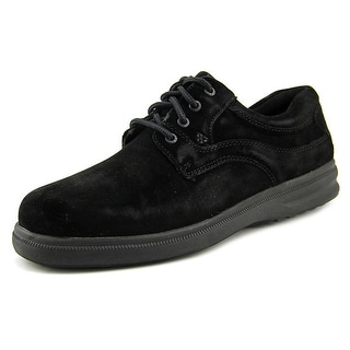 Hush Puppies Glen Men EW Round Toe Suede Black Oxford