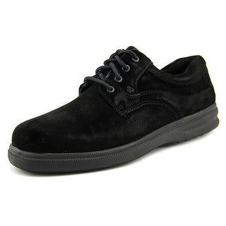 Hush Puppies Glen Men W Round Toe Suede Black Oxford