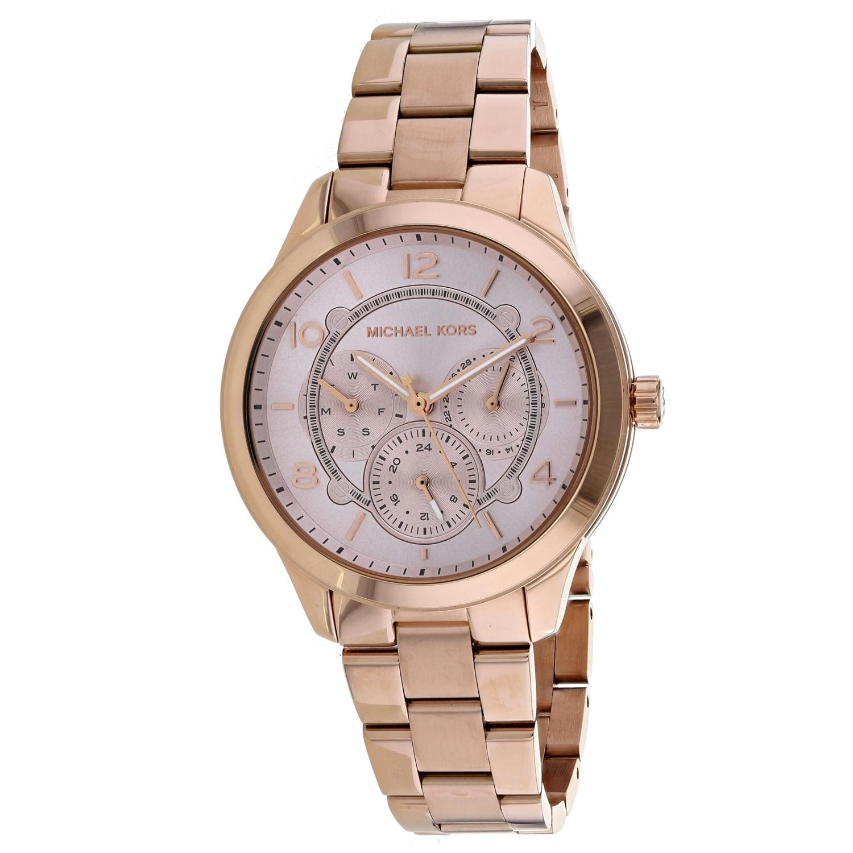 Michael Kors Womens Runway Rose Gold Dial Watch