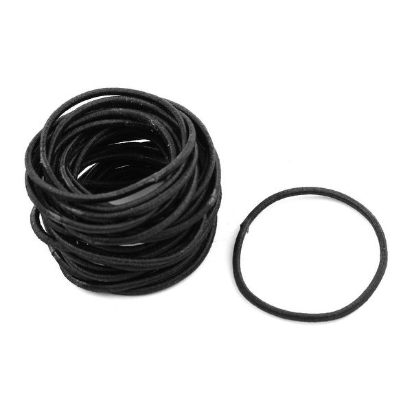 Girl Elastic Rubber Hair Tie Rope Ring Band Haristyle Maker Holder Black 30  Pcs 4d8ec5dca69