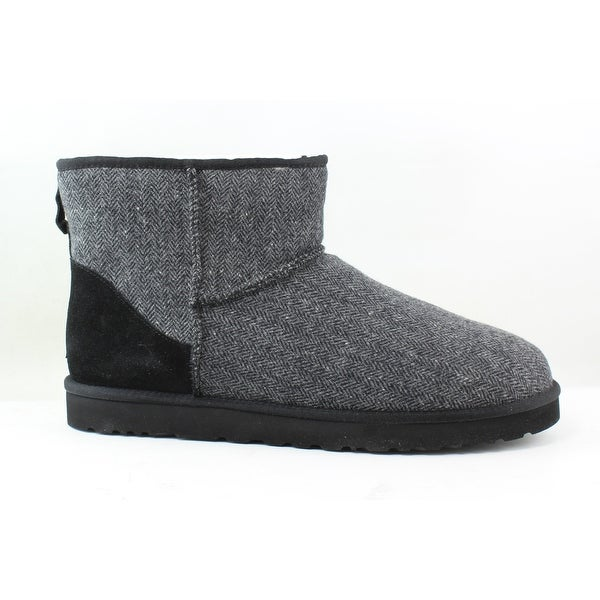 82dec21f169 Shop UGG Mens Classic Short Ii Black Wool Snow Boots Size 17 - Free ...