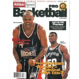 buy online 56091 3e965 Charles Barkley unsigned 199798 Houston Rockets Preseason Basketball  Magazine 30th Anniversary