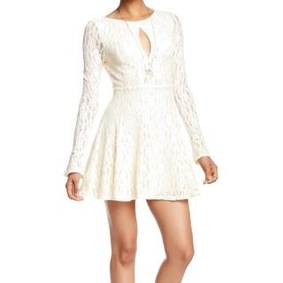 Free People NEW White Ivory Women's Size Medium M Sheath Lace Dress