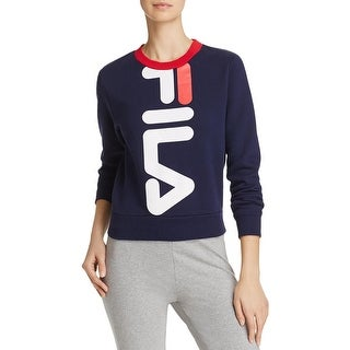 Fila Womens Mona Logo Sweatshirt Cropped Graphic