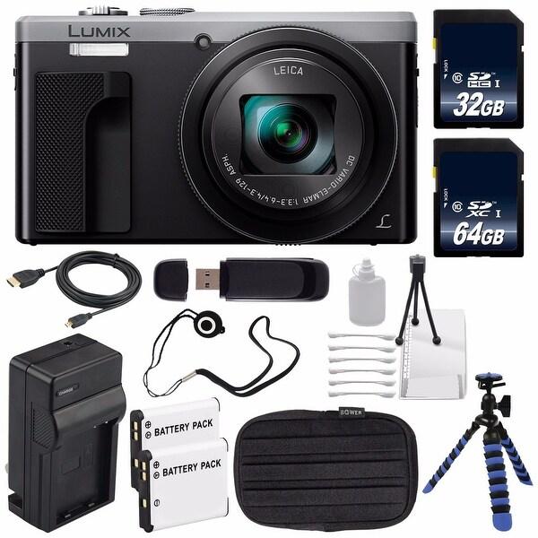 Panasonic LUMIX 4K DMC-ZS60 Digital Camera (Silver) (International Model) No Warranty + Small Case + Charger Bundle