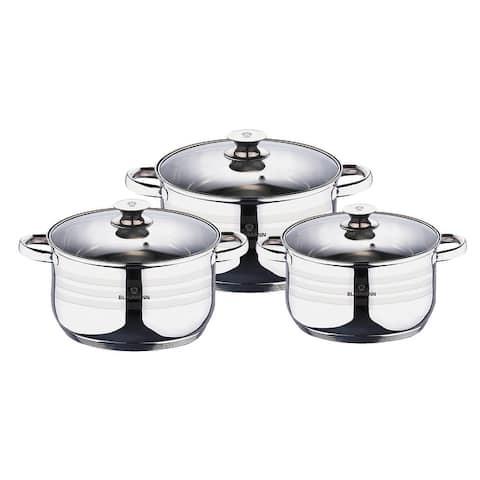 Blaumann 6-Piece Stainless Steel Cookware Set