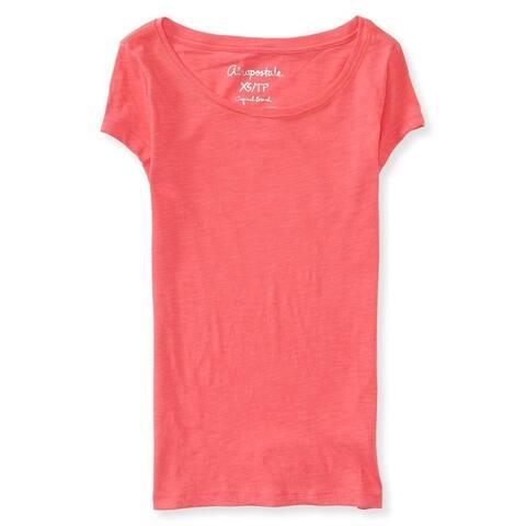 Aeropostale Womens Solid Core Scoop Basic T-Shirt