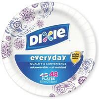 Dixie 15289 Heavy Duty Paper Plates, 48 Plates