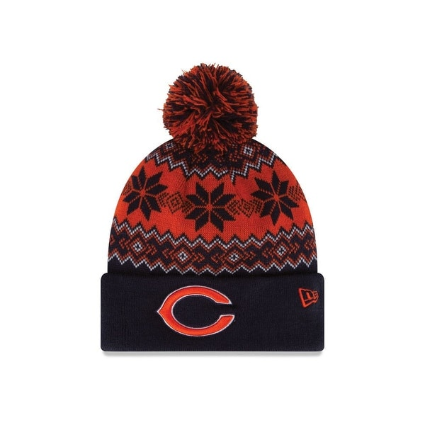 643f618bec2bd5 Shop Chicago Bears Snowburst Knit Hat with Pom - Free Shipping On Orders  Over $45 - Overstock - 18680674