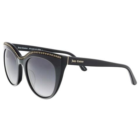 Juicy Couture JU595/S 0807/9O Black Cat Eye Sunglasses - 51-21-140