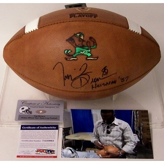 Tim Brown Autographed Hand Signed Notre Dame Official NCAA Football PSADNA
