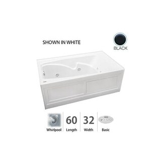 "Jacuzzi CTS6032 WRL 2HX 60"" x 32"" Cetra Three Wall Alcove Comfort Whirlpool Bathtub with 8 Jets, Basic Controls, Heater,"