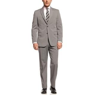 Jones New York 'Graham' Grey Sharkskin Stripe Suit 40 Long 40L Pants 33 Waist
