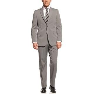 Jones New York 'Graham' Grey Sharkskin Stripe Suit 48 Regular 48R Pants 42 Waist