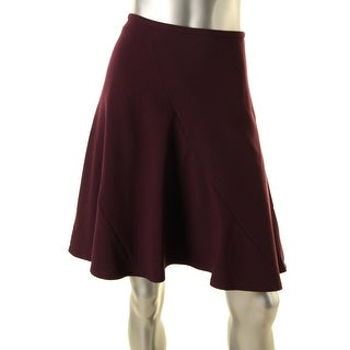 Calvin Klein Womens Petites Fit And Flare Knee-Length A-Line Skirt