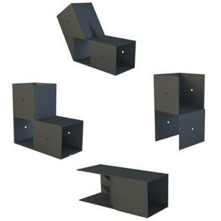 8X16 E-Z Frame Standard Chicken Coop & Run Kit - black