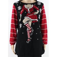 Ugly Christmas Sweater Womens Large Knitted Sweater