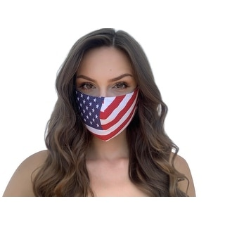 Link to Reusable and Washable Unisex Fashion Cloth Face Mask with Adjustable Straps, US Flag - Multi-color Similar Items in Scarves & Wraps