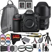 Nikon D850 DSLR Camera (Body Only) International Model + Sigma 12-24mm f/4 DG HSM Art Lens for Nikon F Bundle