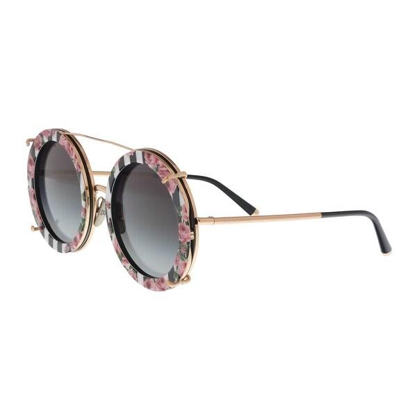3f98b791d7 Dolce  amp  Gabbana DG2198 12988G Multicolor Round Sunglasses - Multi - no  size
