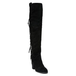 Carlos by Carlos Santana Womens Garrett Leather Closed Toe Over Knee Fashion ...