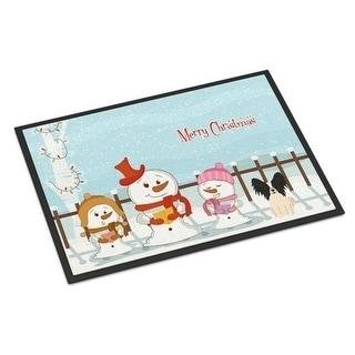 Carolines Treasures BB2407JMAT Merry Christmas Carolers Papillon Black White Indoor or Outdoor Mat 24 x 0.25 x 36 in.