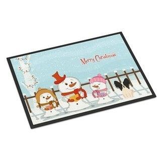 Carolines Treasures BB2407MAT Merry Christmas Carolers Papillon Black White Indoor or Outdoor Mat 18 x 0.25 x 27 in.
