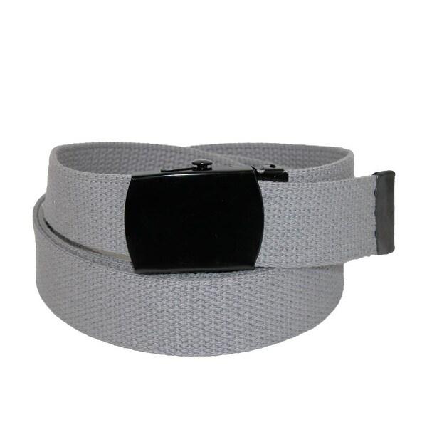 CTM® Fabric Big & Tall Adjustable Belt with Black Buckle