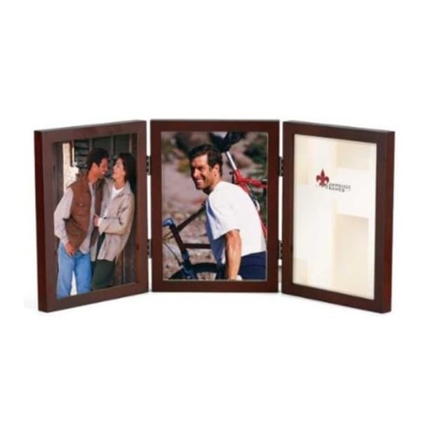 Shop 4x6 Hinged Triple Walnut Wood Picture Frame Gallery