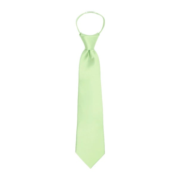 Jacob Alexander Boys 11 Pretied Ready Made Solid Color Zipper Tie