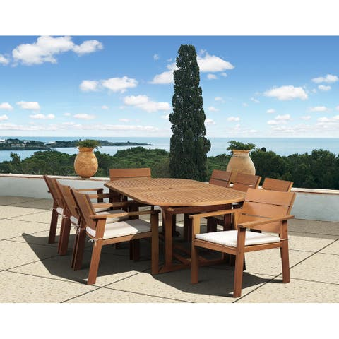 Amazonia Albany 9-piece Outdoor Oval Dining Set