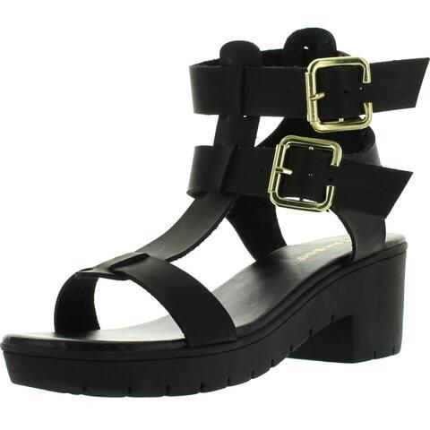 f4b53eb562e5 Bamboo Womens Odessa-07 Lug Sole Fisherman Gladiator Heel Fashion-Sandals