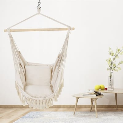 Oversized Hammock Chair With 2 Cushions And Hardware Kits