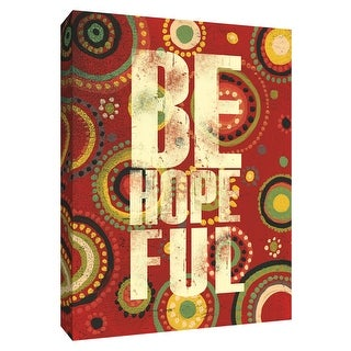 """PTM Images 9-154458  PTM Canvas Collection 10"""" x 8"""" - """"Be Hopeful"""" Giclee Sayings & Quotes Art Print on Canvas"""