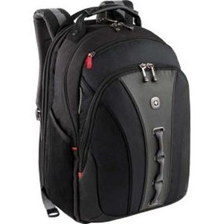"""Wenger The Legacy Notebook Carrying Backpack, 16"""", Black/Gray (Wa-7329-14F00)"""
