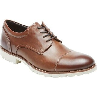 Rockport Men's Channer Plain Toe Oxford Brown Leather
