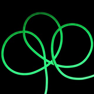 50 LED Commercial Grade Green Neon Style Flexible Christmas Rope Lights
