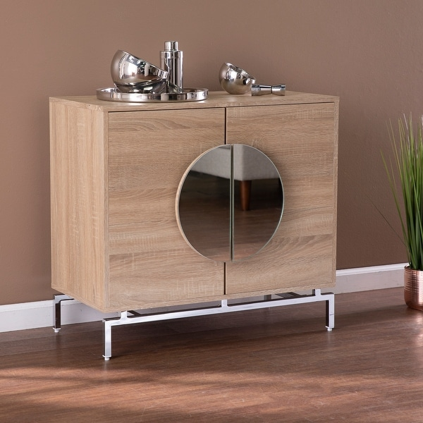 Strick & Bolton Nettleton Contemporary Natural Wood Bar Cabinet. Opens flyout.