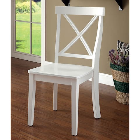 Furniture of America Ten Country White Dining Chairs (Set of 2)