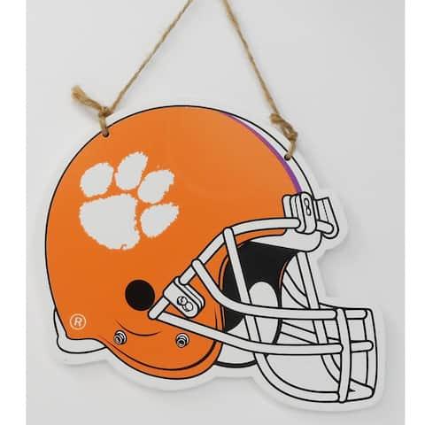 "7"" x 10"" Clemson Tigers Football Helmet Christmas Ornament"