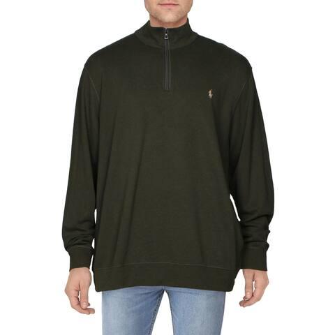 Polo Ralph Lauren Mens Sweatshirt Pull Over 1/4 Zip - Green - XXL