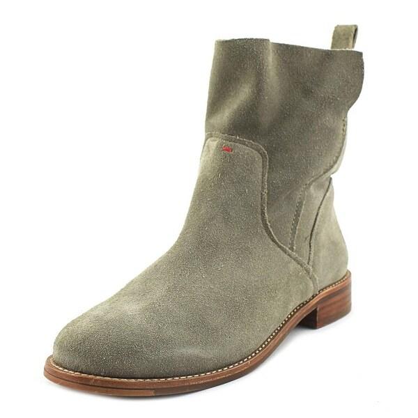 ED Ellen DeGeneres Zayden Women Round Toe Suede Gray Ankle Boot